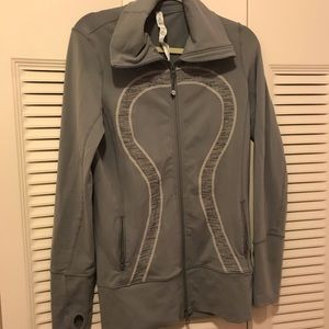 Women Lululemon Gray Zip Jacket Size 10